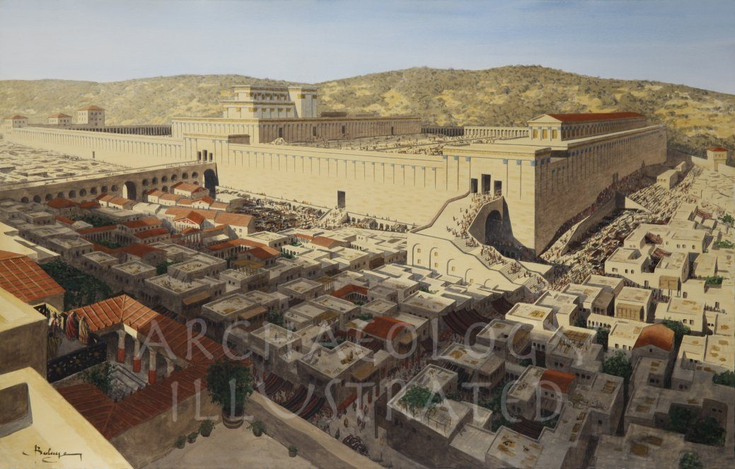 Jerusalem, Temple Mount, Western Wall, 1st century AD - Archaeology Illustrated