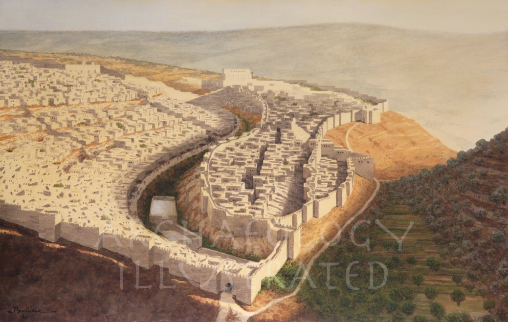 Jerusalem during the Reign of King Hezekiah, 8th century BC - Archaeology Illustrated