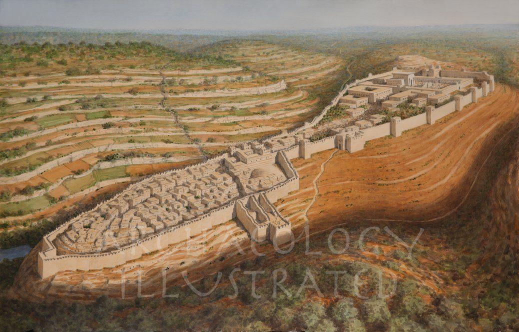 Jerusalem of King Solomon,  SE View, 10th century BC - Archaeology Illustrated