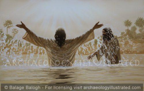 Jesus Baptized by John the Baptist - Archaeology Illustrated