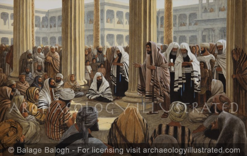 Jesus Teaching in the Temple of Herod - Archaeology Illustrated