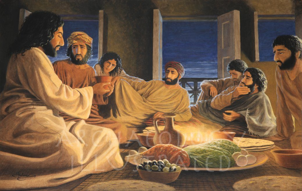 jesus and his disciples at the last supper archaeology illustrated