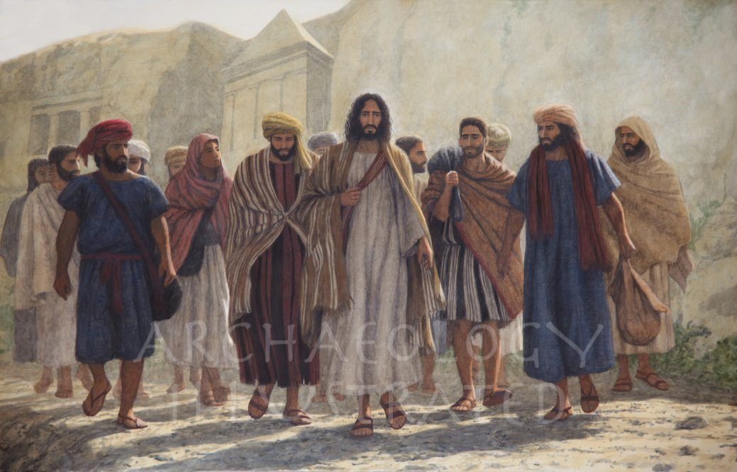 Jesus and His Disciples in the Kidron Valley - Archaeology Illustrated