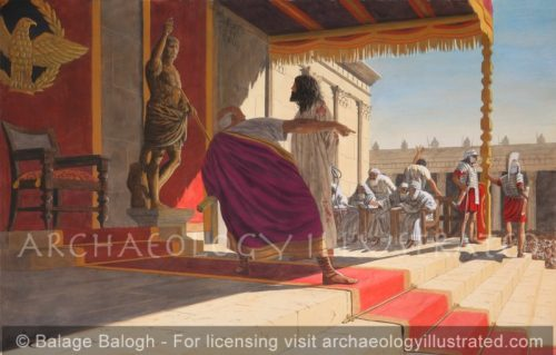 Jesus with Pontius Pilate - Archaeology Illustrated