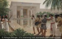Joseph Reunites with his Brothers in His Palace in the Hyksos city of Avaris - Archaeology Illustrated