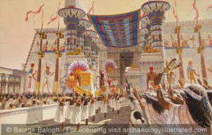 Karnak, Procession at the Amun Temple, 7th century BC - Archaeology Illustrated