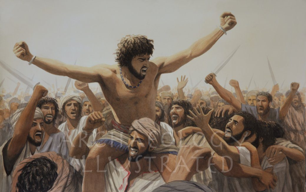 King David and his Troops Victorious over the Philistines - Archaeology Illustrated