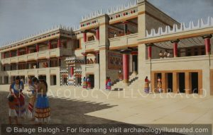 Knossos, Island of Crete, Royal Palace Court, 1450 BC - Archaeology Illustrated