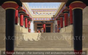 Knossos, Island of Crete, Royal Palace, South Propylaea (Main Entrance) 1450 BC - Archaeology Illustrated
