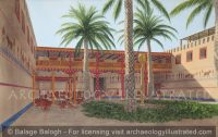 Mari, Regional Capital in Northern Mesopotamia, Palace Courtyard, 1800 BC - Archaeology Illustrated