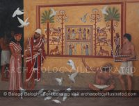 Mari, Regional Capital in Northern Mesopotamia, Palace Courtyard with Reconstructed Wall Painting, 18th century BC - Archaeology Illustrated