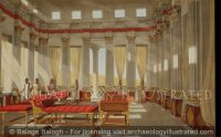 Masada, Israel, Herod's Banquet Hall on the Lower Level, 1st century BC - Archaeology Illustrated