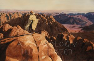Moses on Mount Sinai on a Memorable Occasion. View Based on Actual Early Morning Photo Taken at the Summit - Archaeology Illustrated