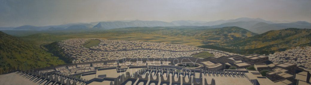 Mycenae, Southern Greece, Panoramic View from the Citadel Over the Plain of Argos, 1250 BC - Archaeology Illustrated