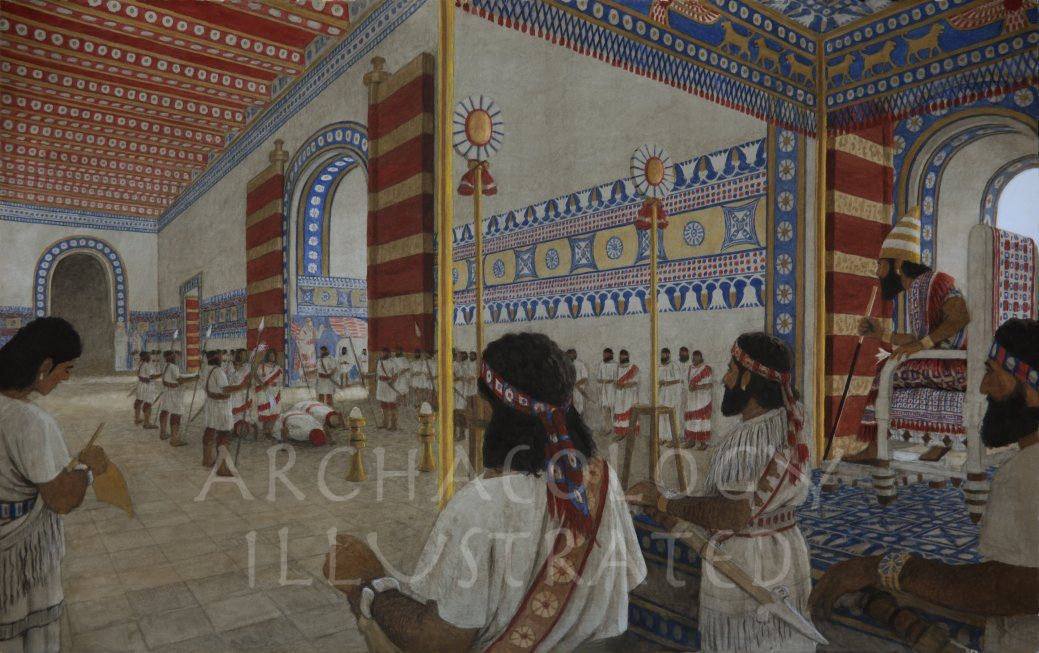 Nimrud, a Capital of Assyria, The Throne Room, 8th century BC - Archaeology Illustrated