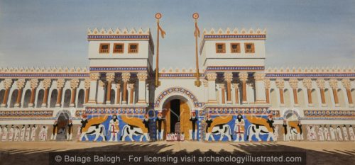 Nineveh, The Great Entrance to the South-West Palace, 8th Century BC - Archaeology Illustrated