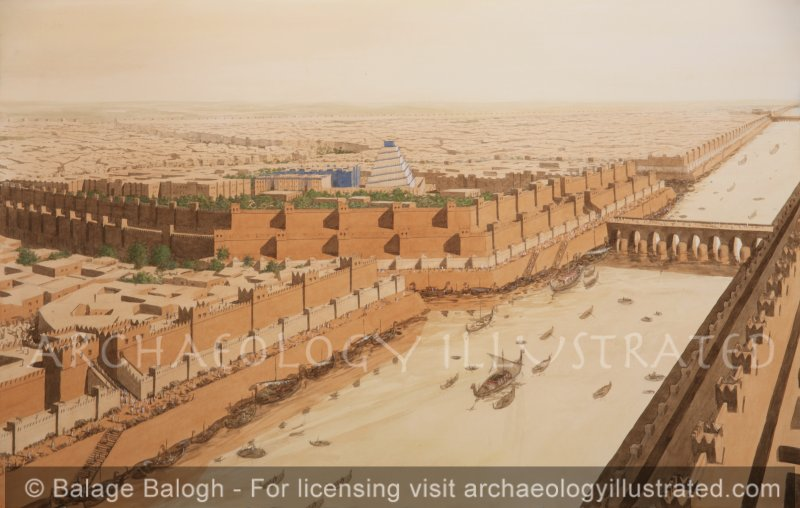Nineveh with the River Tigris, 8th century BC - Archaeology Illustrated