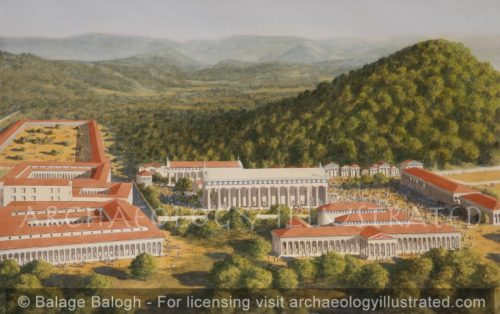 Olympia, Greece. View to the North, 3rd century BC - Archaeology Illustrated