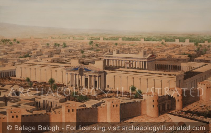 Palmyra, Syria, The Temple of Bel. 2nd century AD - Archaeology Illustrated