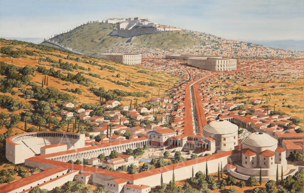 Pergamon, The Asclepeion (Healing Center), Western Turkey, 2nd Century AD - Archaeology Illustrated
