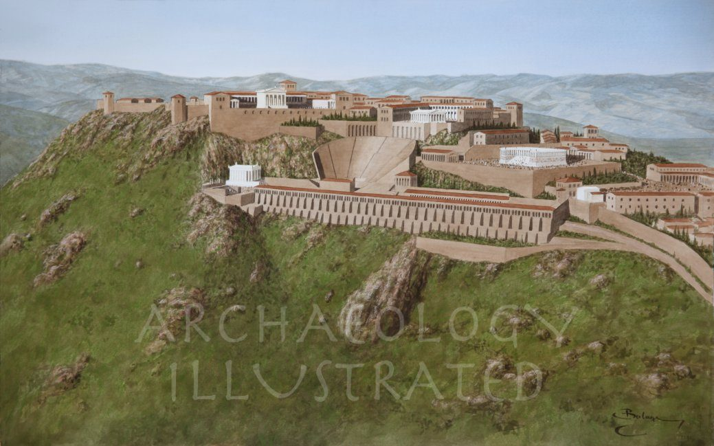 Pergamon, Western Turkey, The Acropolis, 2nd century AD - Archaeology Illustrated