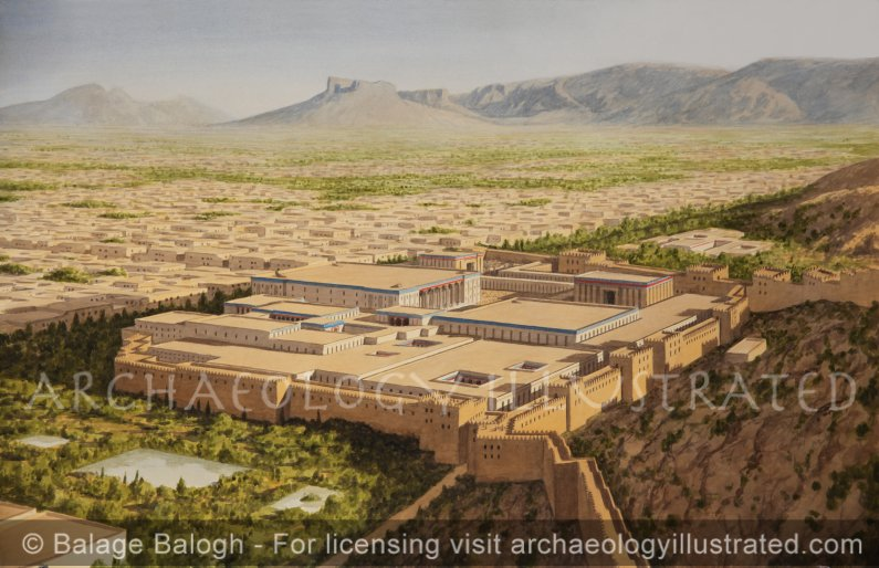 Persepolis, Persia, Royal Palace Complex in the 6th century BC - Archaeology Illustrated