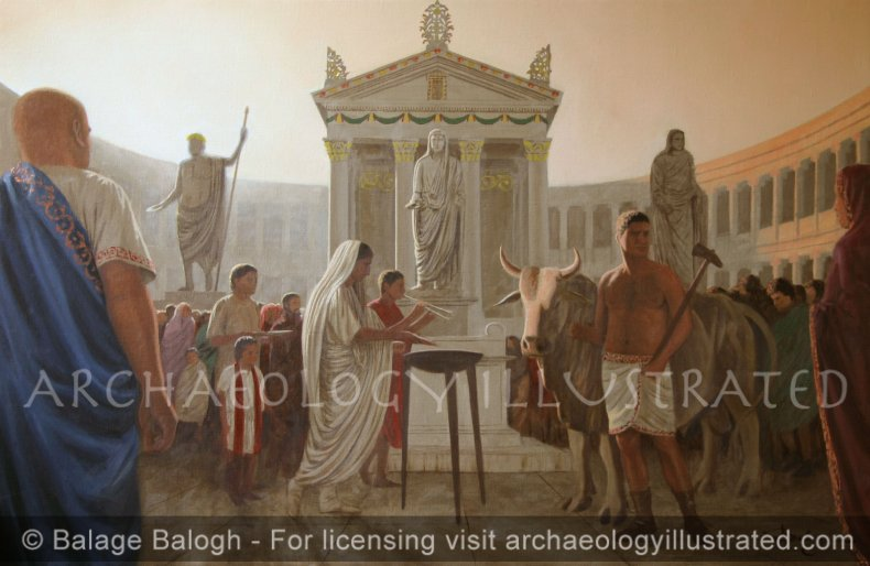 Pisidian Antioch, The Augusteum, 1st century AD - Archaeology Illustrated