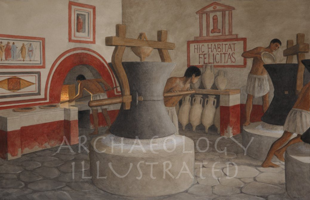 Pompeii Bakery, 1st century AD - Archaeology Illustrated