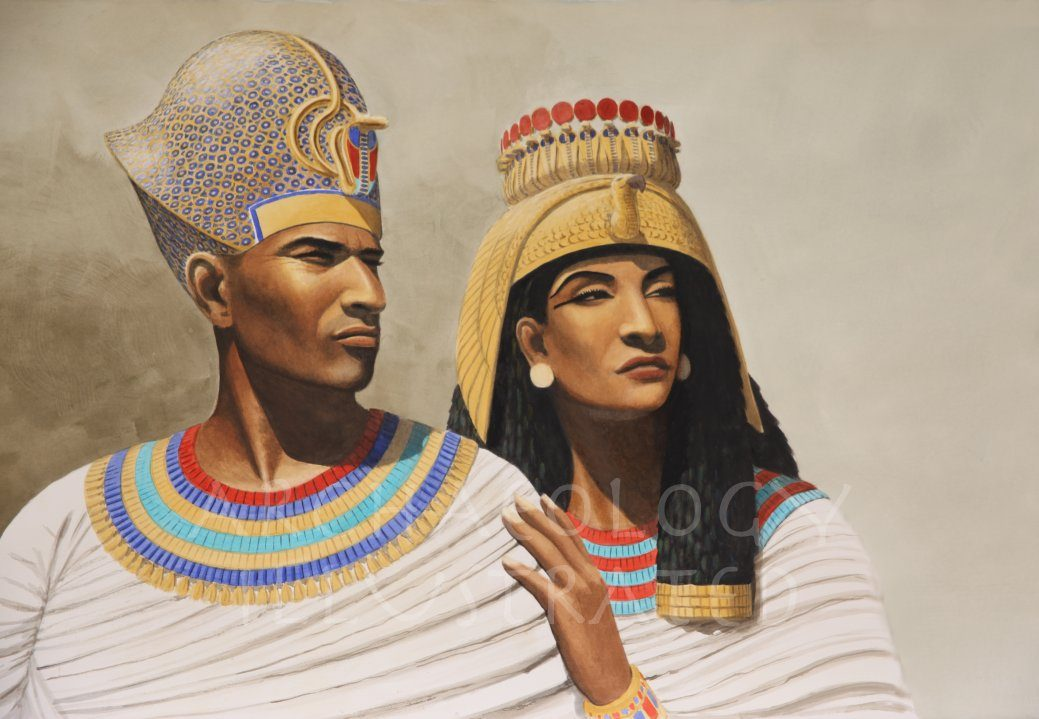 Ramesses II and Nefertari, Possibly the King and Queen of the Exodus, Forensic Reconstruction, 13th century BC - Archaeology Illustrated