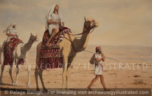Rebecca Arriving at Isaac's Encampment at Beersheva - Archaeology Illustrated