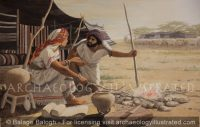 Rebecca and Her Son Jacob Plotting to Get His Father's Blessing - Archaeology Illustrated