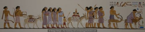 Restored Depiction of Nomadic people in Khnumhotep's tomb, Egypt, 19th century BC - Archaeology Illustrated