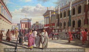 Roman Forum with the Basilica Julia and the Basilica Aemilia, 1st century AD - Archaeology Illustrated