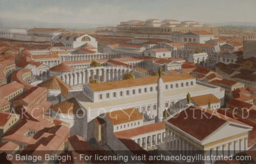 Rome, Center of Town. The Imperial Fora. 2nd century AD - Archaeology Illustrated