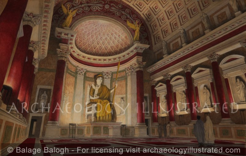 Rome, Temple of Venus and Rome, 4th century AD - Archaeology Illustrated
