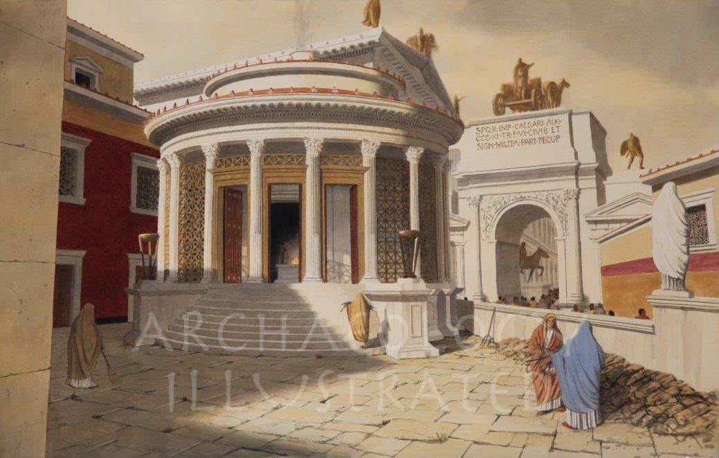 Rome, Temple of the Vesta, 2nd century AD - Archaeology Illustrated