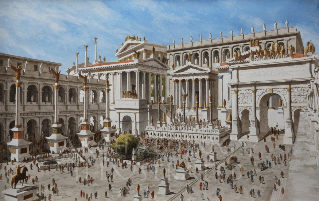 Rome, The Roman Forum, 3rd century AD - Archaeology Illustrated