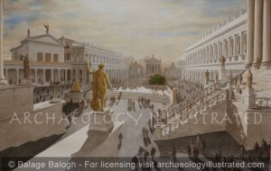Rome, The Roman Forum in the Morning, 1st century AD - Archaeology Illustrated