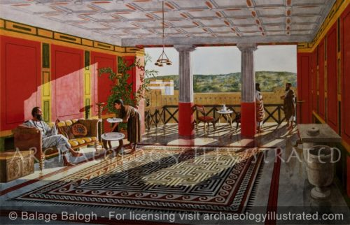 Room in Priestly Mansion in Jerusalem, 1st century AD - Archaeology Illustrated