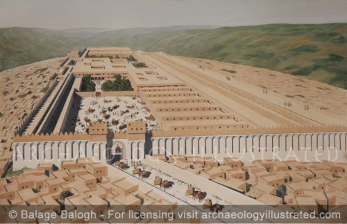 Samaria (Shomron), Capital of Israel, Royal palace and Chariot Stables, 8th century BC - Archaeology Illustrated