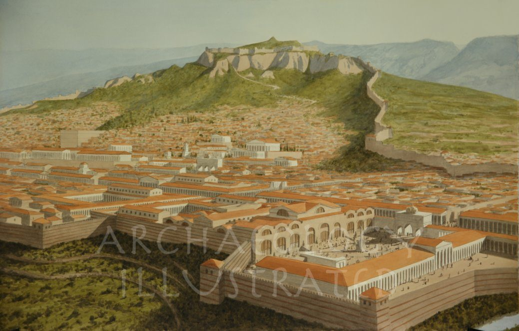 Sardis, Western Turkey, Bath House in Foreground, 2nd Century AD - Archaeology Illustrated