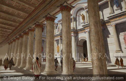 Sardis, Western Turkey, Roman Bath House Colonnade, 2nd century AD - Archaeology Illustrated