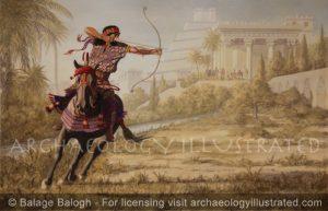Sennacherib, King of Assyria Taking Exercise in Nineveh Gardens. 8th century BC - Archaeology Illustrated