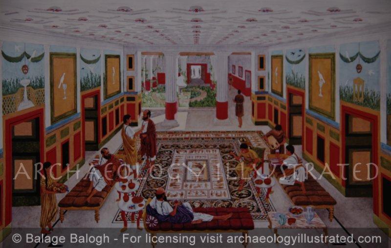 Sepphoris, Israel, Wealthy Home Interior, 3rd century AD - Archaeology Illustrated