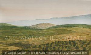Sepphoris, View from Nazareth, 1st century AD - Archaeology Illustrated