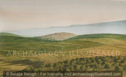 Sepphoris, View from Nazareth, 1st century AD - Archaeology Illustrated