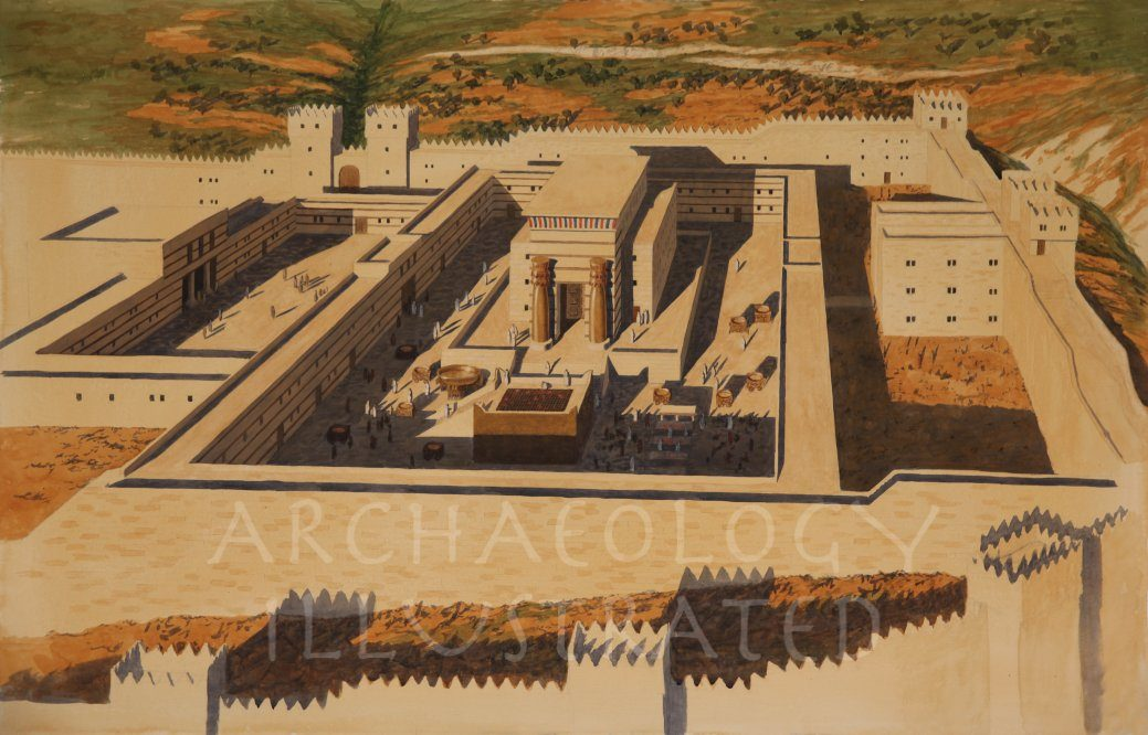 Temple of Solomon Aerial View - Archaeology Illustrated