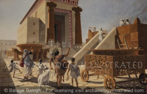 Temple of Solomon, Family on a Chag, (Pilgrimage), Biblical Period - Archaeology Illustrated