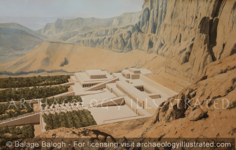 The Funerary Temple of Hatshepsut, Queen of Egypt. West Bank of Nile, 15th Century BC - Archaeology Illustrated