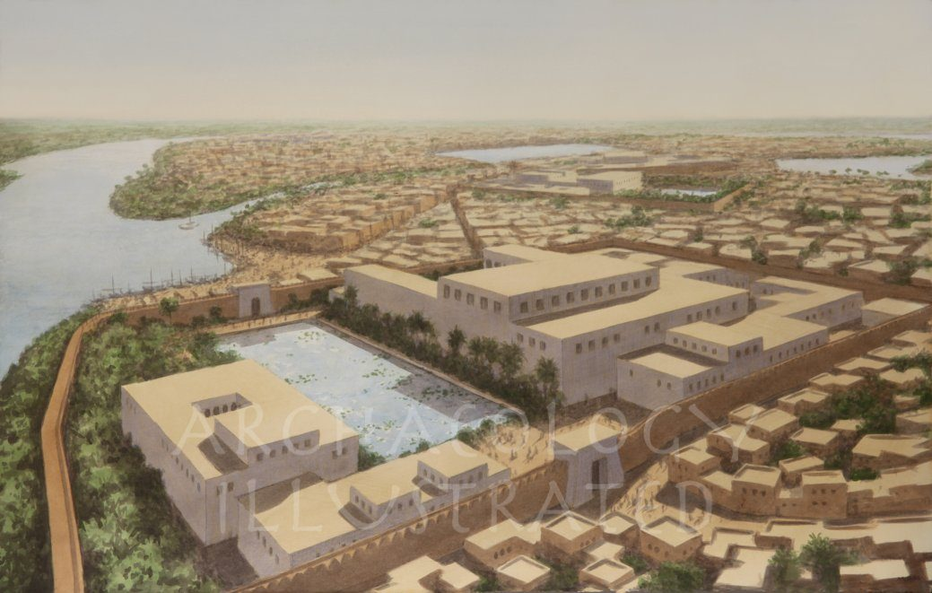 The Governor's Palace at Avaris, Nile Delta, Egypt. City of Israelite Slavery, 16th century BC - Archaeology Illustrated